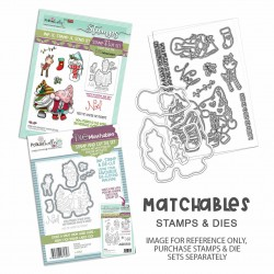 (PD8189)Polkadoodles Gnome Meet Me Under the Mistletoe Clear Stamps