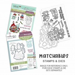 (PD8191)Polkadoodles Gnome Tinsel in a Tangle Clear Stamps