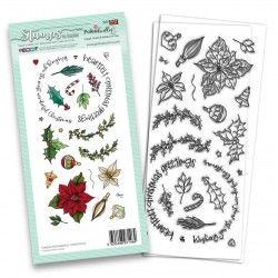 (PD8204)Polkadoodles Wonderful Christmas Clear Stamps