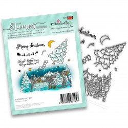 (PD8203)Polkadoodles Night Sky Clear Stamps