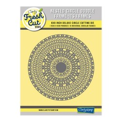 (ACC-DI-31154-66)Clarity NESTED CIRCLE DOODLE FRAME-ITS FRAMES DIE SET