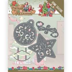 (YCD10254)Dies - Yvonne Creations - The Heart of Christmas - Twinkling Decorations