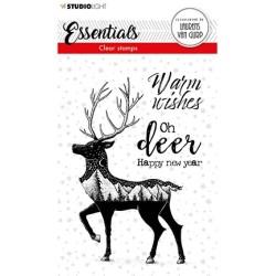 (BL-ES-STAMP115)Studio light BL Clear stamp Deer Essentials nr.115