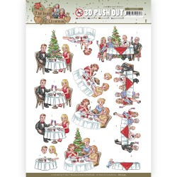 (SB10595)3D Push Out - Yvonne Creations - The Heart of Christmas - Dining