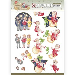 (SB10597)3D Push Out - Yvonne Creations - The Heart of Christmas - Fireworks