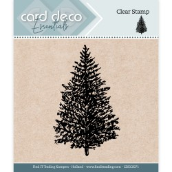 (CDECS071)Card Deco Essentials - Clear Stamps - Christmas Tree