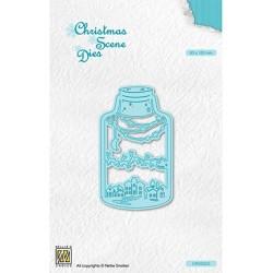 (CRSD023)Nellie's choice Christmas scene dies Wintery scene in bottle