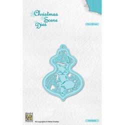 (CRSD024)Nellie's choice Christmas scene dies Christmasball with fox