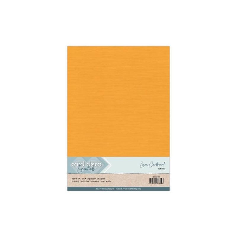 (LKK-A465)Linen Cardstock - A4 - Apricot