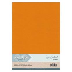 (LKK-A466)Linen Cardstock - A4 - Tangerine