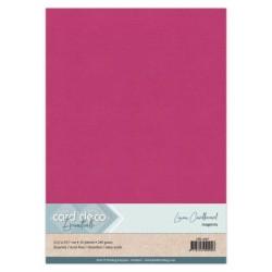 (LKK-A467)Linen Cardstock - A4 - Magenta