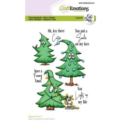 (1521)CraftEmotions clearstamps A6 - Xmas trees 1 (Eng) Carla Creaties