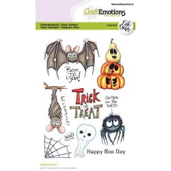 (1524)CraftEmotions clearstamps A6 - Halloween 1 (Eng) Carla Creaties