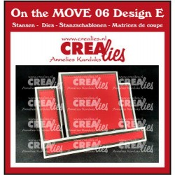 (CLMOVE06)Crealies On The MOVE Mix Center Step Card with square