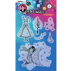 (ABM-OOTW-STAMP70)Studio light ABM Clear Stamp Dreamgirls Out Of This World nr.70