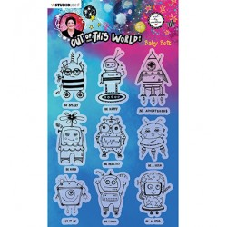 (ABM-OOTW-STAMP74)Studio Light ABM Clear Stamp Baby Bots Out Of This World nr.74