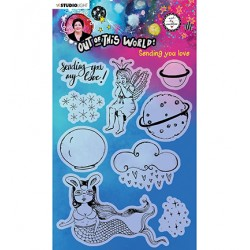 (ABM-OOTW-STAMP72)Studio Light ABM Clear Stamp Sending you love Out Of This World nr.72