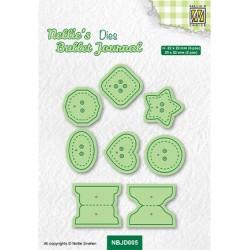 (NBJD005)Nellie's Bullet journal Buttons