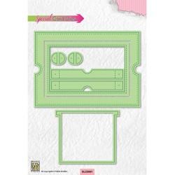 (SLCD001)Nellie's Sliding card dies