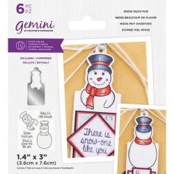 (GEM-STD-SMF)Gemini Snow Much Fun Stamp & Die