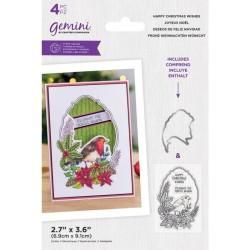 (GEM-STD-HACHWI)Gemini Happy Christmas Wishes Stamp & Die