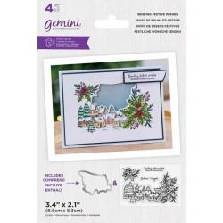 (GEM-STD-SEFEWI)Gemini Sending Festive Wishes Stamp & Die