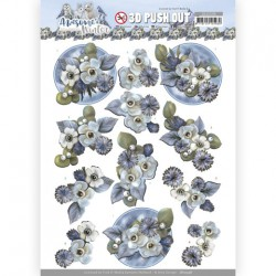 (SB10598)3D Push Out - Amy Design - Awesome Winter - Winter Flowers