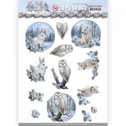 (SB10599)3D Push Out - Amy Design - Awesome Winter - Winter Animals