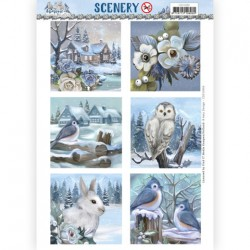 (CDS10066)Scenery - Amy Design - Awesome Winter Square