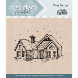 (CDECS072)Card Deco Essentials - Clear Stamps - Snow House