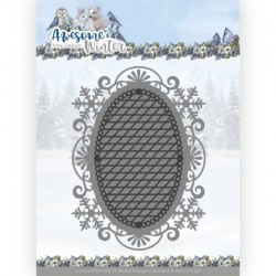 (ADD10253)Dies - Amy Design - Awesome Winter - Winter Lace Oval