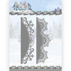 (ADD10255)Dies - Amy Design - Awesome Winter - Winter Lace Border