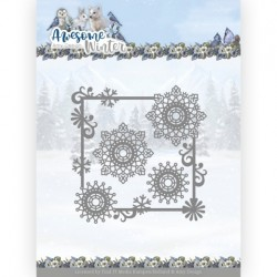 (ADD10256)Dies - Amy Design - Awesome Winter - Winter Swirl Square