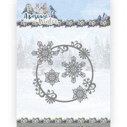 (ADD10257)Dies - Amy Design - Awesome Winter - Winter Swirl Circle