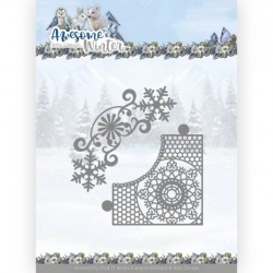(ADD10258)Dies - Amy Design - Awesome Winter - Winter Lace Corner