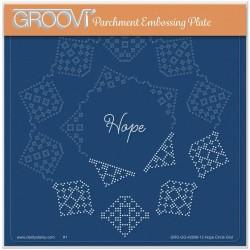 (GRO-GG-42056-12)Groovi Grid Plate JOSIE DAVIDSON'S HOPE CIRCULAR LACE DUET