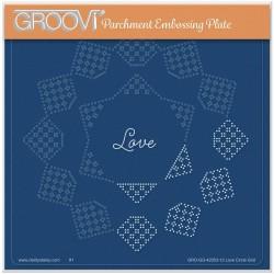 (GRO-GG-42053-12)Groovi Grid Plate JOSIE DAVIDSON'S LOVE CIRCULAR LACE DUET
