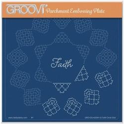 (GRO-GG-42054-12)Groovi Grid Plate JOSIE DAVIDSON'S FAITH CIRCULAR LACE DUET