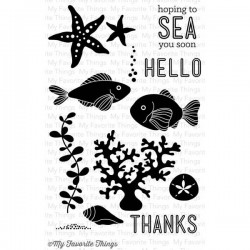 (LJD-38)My Favorite Things Sea Life Clear Stamps