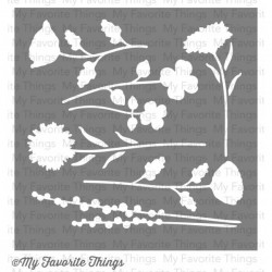 (ST-35)My Favorite Things Wildflowers Stencils