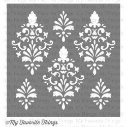 (ST-32)My Favorite Things Damask Stencils