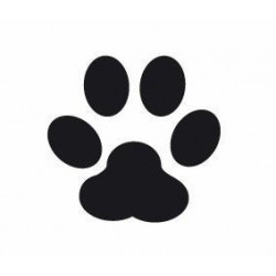 Easy punch paw print 15X16MM
