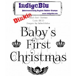 (BFC-D)IndigoBlu Baby's First Christmas Dinkie Mounted A7 Rubber