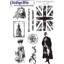 (PP I Mtd)IndigoBlu Pomp And Pageantry Mounted A5 Rubber Stamp