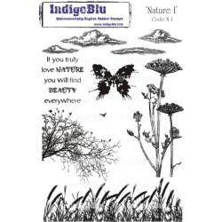 (Na I Mtd)IndigoBlu Nature I Mounted A5 Rubber Stamp
