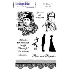 (MD Mtd)IndigoBlu Mr Darcy Mounted A5 Rubber Stamp