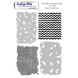 (IBB Mtd)IndigoBlu Itsy Bitsy Backgrounds Mounted A5 Rubber Stam