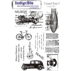 (GT I Mtd)IndigoBlu Grand Tour I Mounted A5 Rubber Stamp