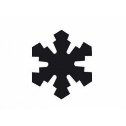 Easy punch snow flake 1 25MM