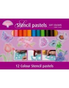 Stencil pastels